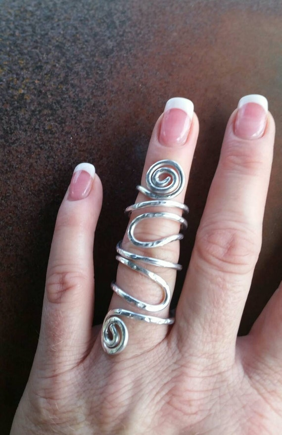 Statement Ring Full Finger Ring Finger Armor Aluminum By