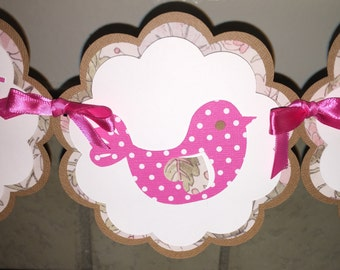 Shabby Chic Baby Shower Banner