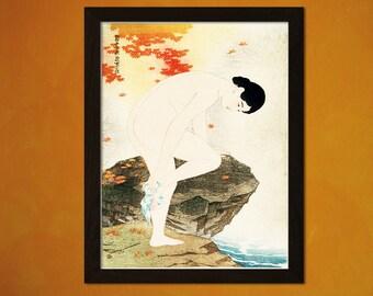 The Fragrance Of a Bath 1930 - Ito Shinsui Print Ukiyo-e Poster Japanese Wall Art Shinsui Poster Gift Idea Japanese Art