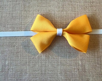 Gold Bow Baby Headband