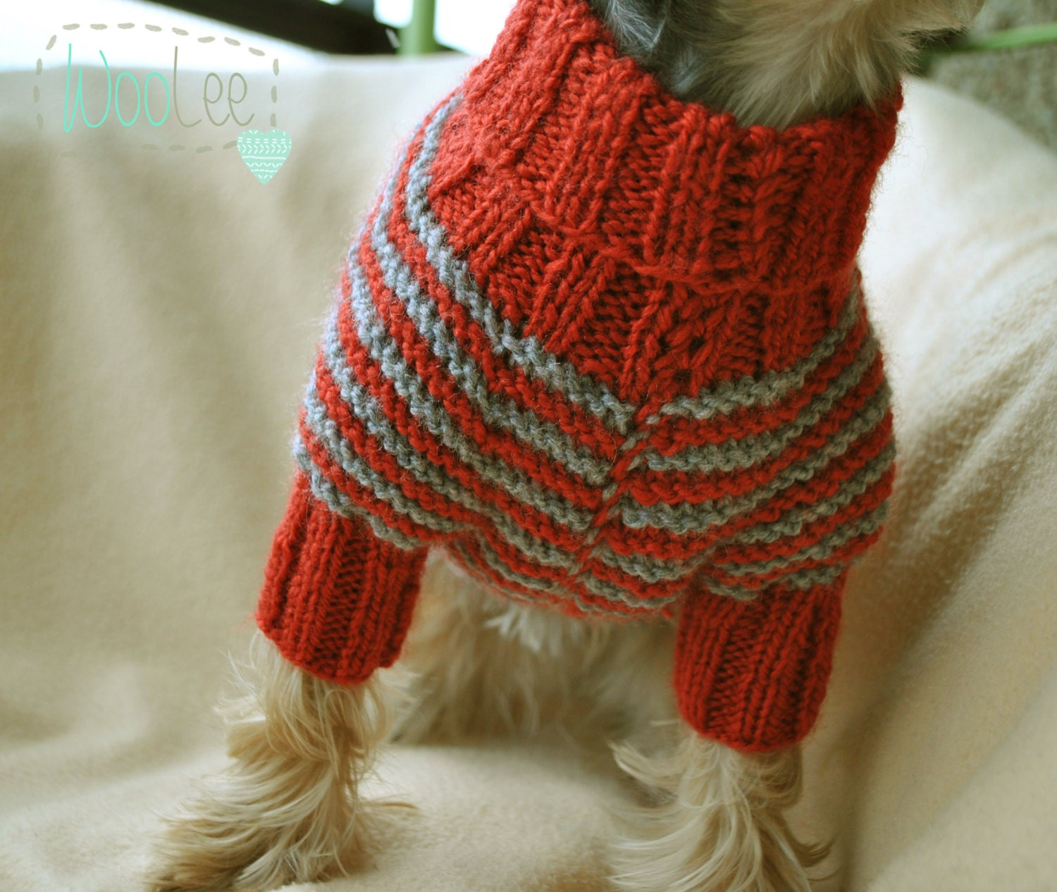 Knitting Dog Clothes : Pet clothing small dog clothes hand knit sweater