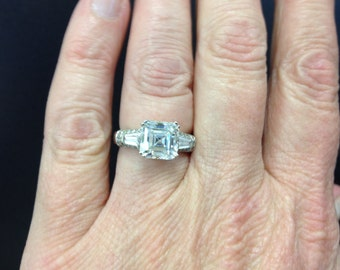 Assher cut large cz ring