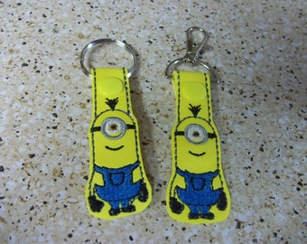 Minion key fob and zipper pulls