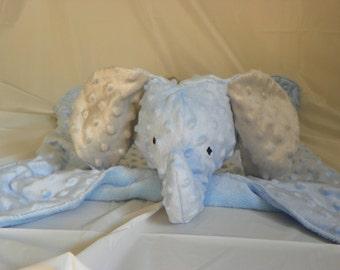 Cuddle-Me Elephant Minky Blanket