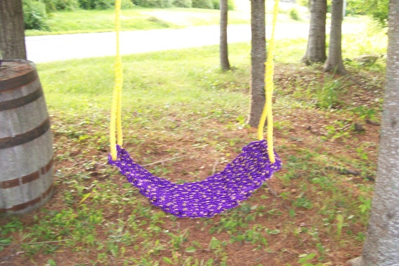 Handmade rope swings unique free shipping by midmainemats for Unique swings for kids