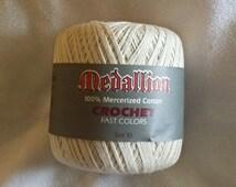 Vintage Medallion 100% Mercerized Cotton Yarn size 10 Color Ecru 400 yards 365 meters