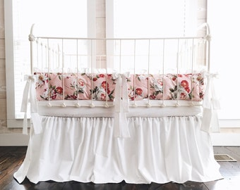 Baby Girl Bedding Floral - Floral Crib Bedding Set - Girl Baby Bedding - Floral Nursery Bedding - Floral Nursery Decor - Baby Girl Bedding