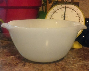 Fire King white milk glass large bowl