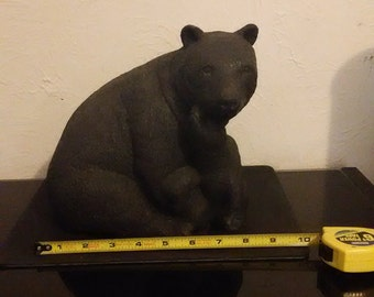Mother bear with cub statue / figurine