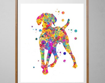 Hungarian Vizsla dog Print, Dog Art, Wall Art watercolor gift, Vertical Poster Home Decor, Vizsla Magyar Dog illustration [N1]