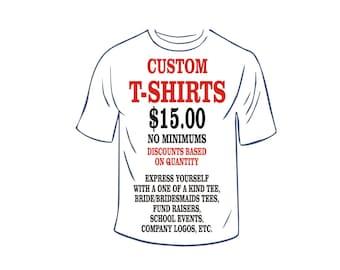 Vinyl Print T Shirt Etsy