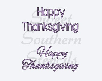 Happy Thanksgiving Stencil