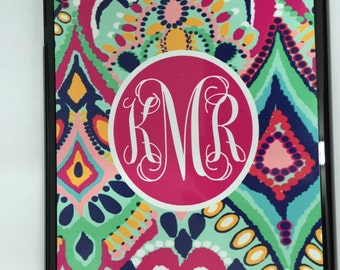 Ipad 5 case lilly pulitzer jewels monogrammed new personalized ipad 5 case