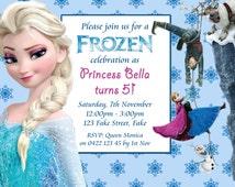 Customized Frozen Birthday Party Invitation DIY Printable Digital