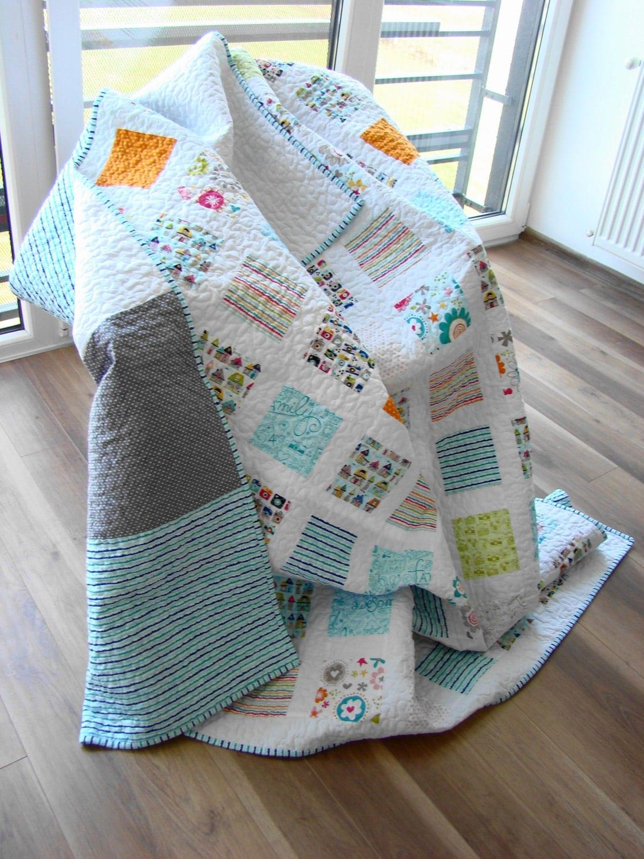 Modern Quilt Custom Quilt Twin Quilt Throw Quilt Bed