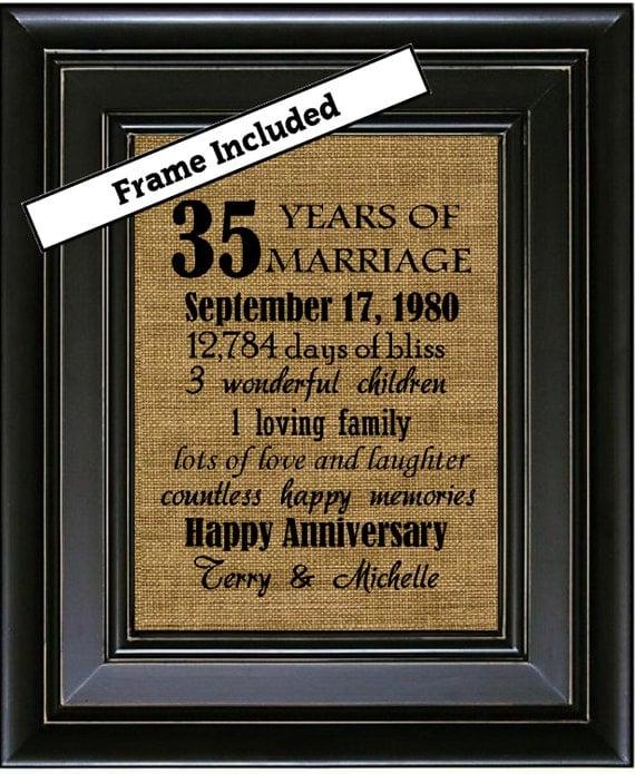 Wedding Anniversary 35 Years Gifts