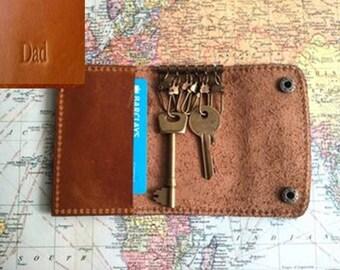 Personalised Leather Key Holder By Vida Vida