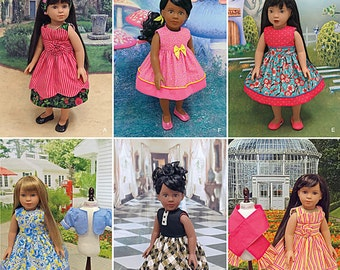 """Party dresses, day dresses,  18"""" AG Doll Clothes, Simplicity Pattern 1220, party, school, & everyday dresses, shall, bolero jacket, UN-CUT"""