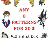 Any eight Cross Stitch Patterns PDF for 20.  Sale Special Offer