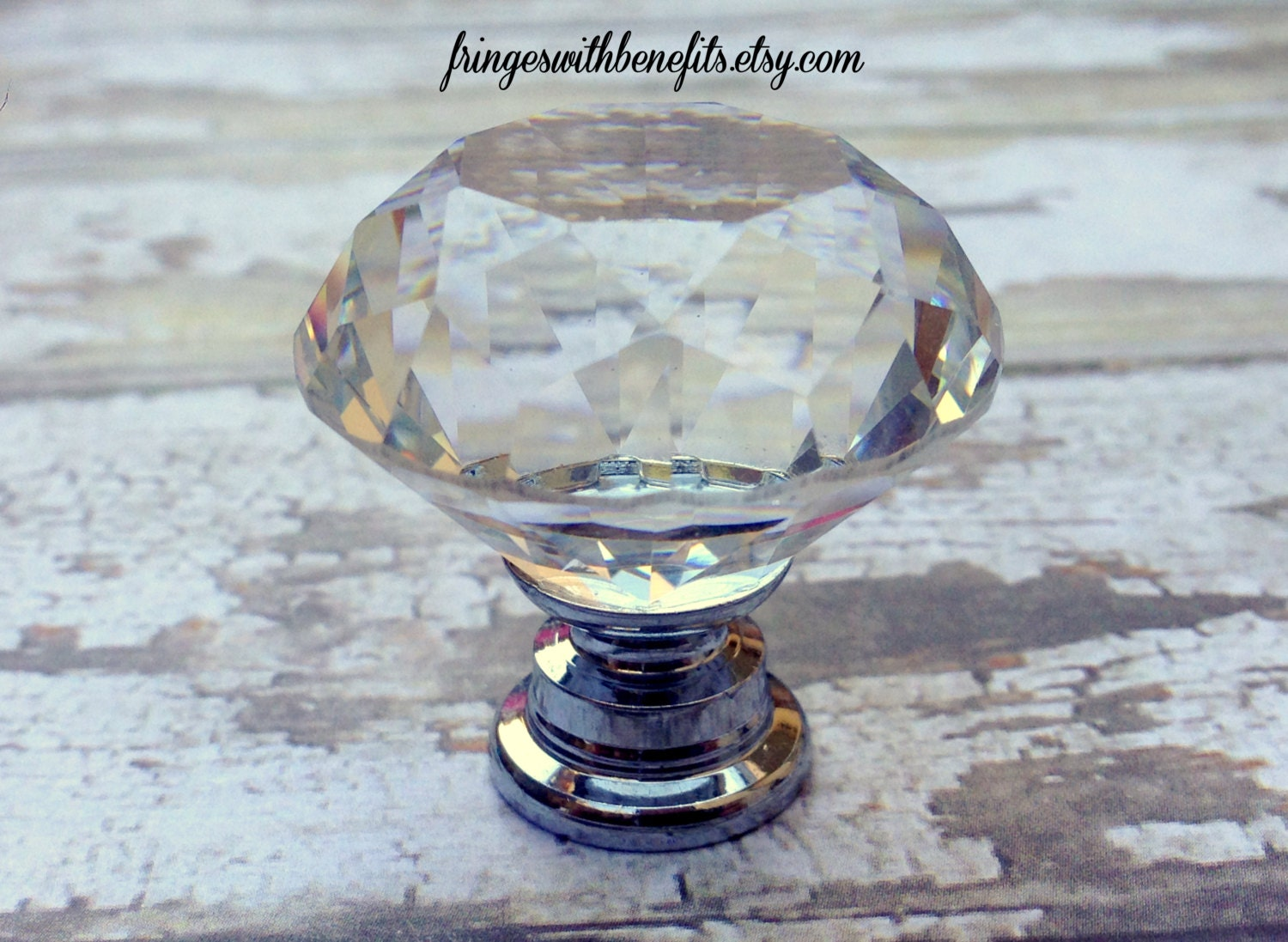 crystal knob glass drawer pull diamond by fringeswithbenefits. Black Bedroom Furniture Sets. Home Design Ideas