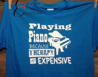 Playing Piano Therapy shirt