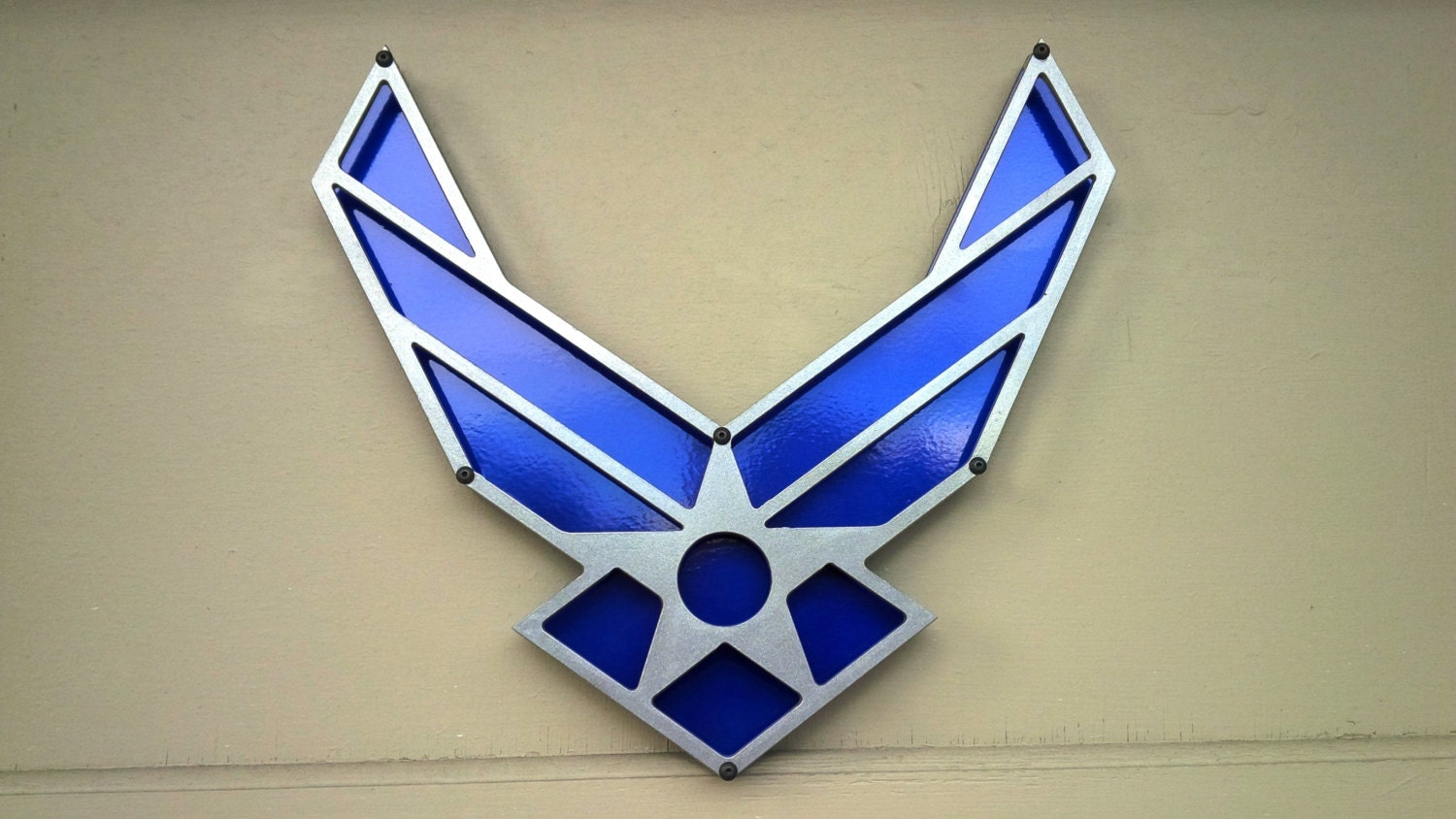 Usaf Wall Decor : Usaf air force powdercoated steel sign wall art