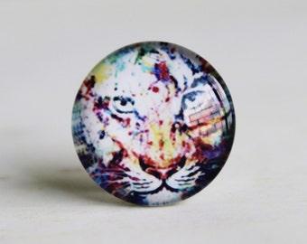 Tiger Handmade Photo Glass Cabochon 10mm 12mm 14mm 15mm 16mm 18mm 20mm 25mm 30mm-513-2