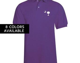 Perfectly Palmetto Men's Cotton Sport Polo Shirt
