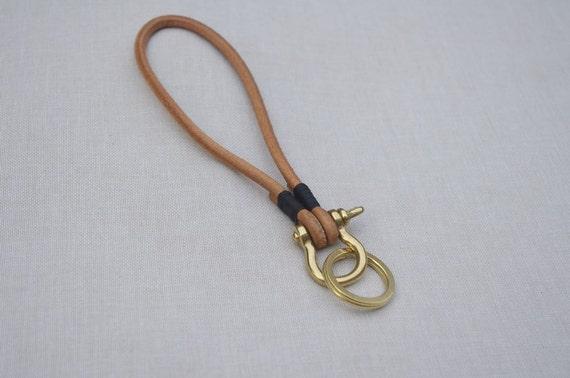 Handmade leather cord key cowhide rope buckle copper fastener widgets
