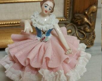 Vintage Dresden Lace Ballerina