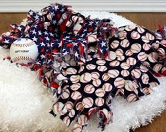 Baseball Shaggy Blanket Basket Filler Prop