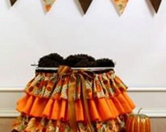 Ruffle Bucket Skirt Photography Prop Harvest