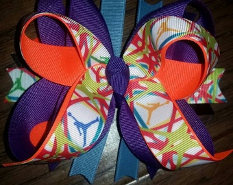 Michael Jordan inspired large layered boutique Bow