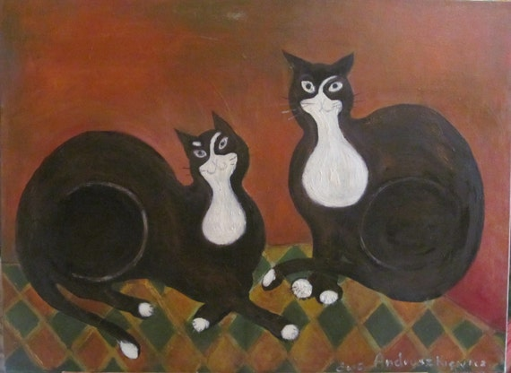 Cats. oil painting, canvas painting, original oil, original painting, original art, animals, painting oil.