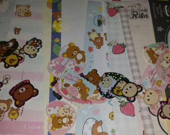 Rilakkuma ONLY Kawaii Lot! Memos, Sticker Flakes, Letter Sets, Deco Tape and More!