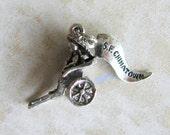Chinatown San Francisco California Oriental Rickshaw Sterling Silver Bracelet Charm