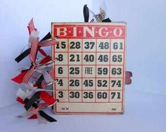 Vintage Style Mini, Red and Black Mini Album, Mini Album, Bingo Cover Album