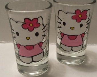Hello Kitty shot glasses