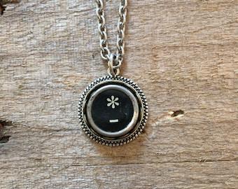 """Typewriter Key Necklace, Vintage """"* """""""