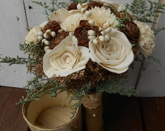 Winter wedding, wedding bouquet, rustic wedding, bridal bouquet, sola bouquet, bridesmaid bouquet, country wedding