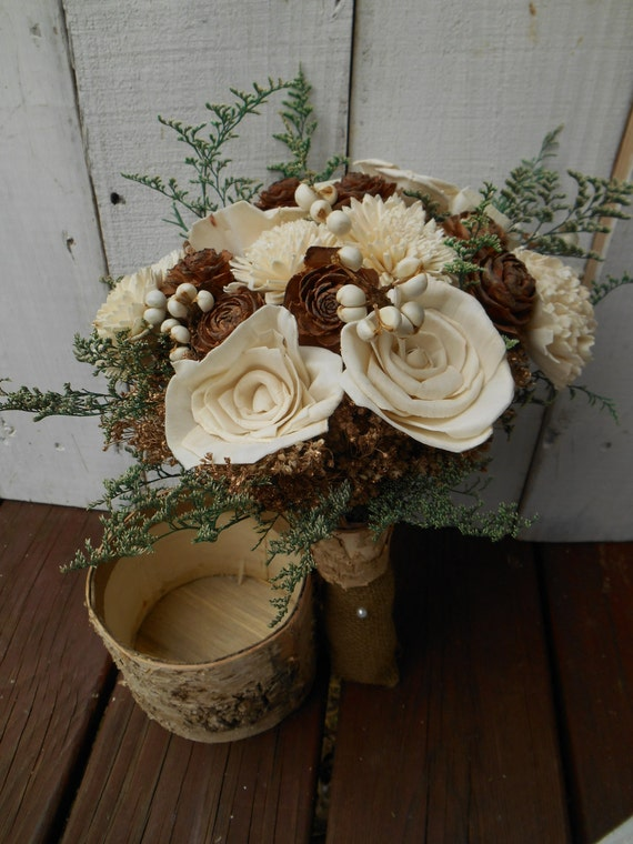 Rustic Wedding Flowers Names : Winter wedding bouquet rustic bridal