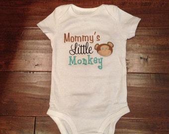 "Mommy""s little monkey onesie"