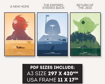 Star Wars Trilogy Poster PDF Digital Download