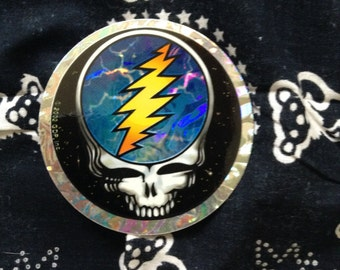Grateful Dead Sticker Steal Your Face Deadstock Holographic