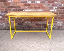 ANY COLOUR FRAME - Large Desk - Industrial style reclaimed Timber - Steel and Wood - Vintage Rustic Urban Office Scaffold Contemporary