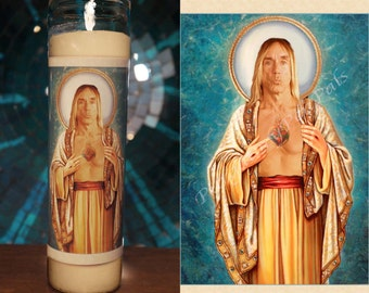 Saint Iggy Pop Prayer Candle / The Stooges Vigil Candle