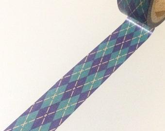 Argyle Washi Tape - Dark Blue and Green