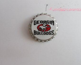 College Fooball (Georgia) Bottle Cap Pin