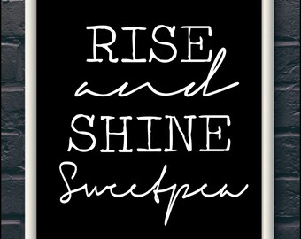 Items Similar To Shine On Typographic Print Inspirational Print Giclee Digital Travel