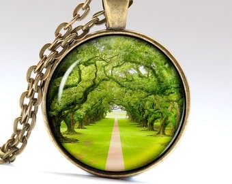 Road Jewelry Nature Pendant Summer Necklace Road Necklace Road Pendant Nature Necklace Road Jewelry Summer Pendant Summer Jewelry LG229